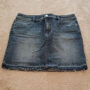 WHBM denim skirt